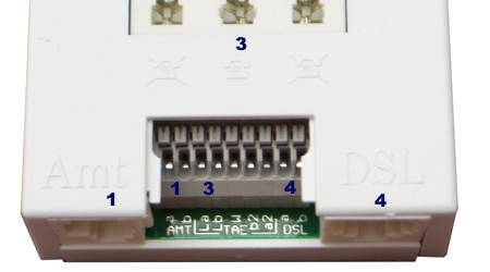 T-DSL Splitter Anschlussfeld