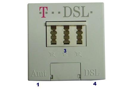 DSL Splitter Anschluss, Anschaltung DSL Splitter